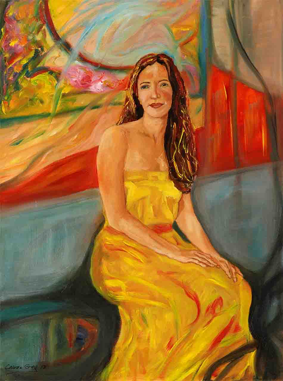 oil figure painting on canvas, for sale from the artist