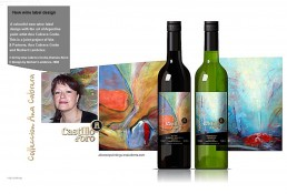 Wine label design Holland, red wine, white wine,abstract painting, decorative for sale