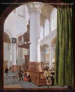Gerard Houckgeest, Interior of the Old Church in Delft